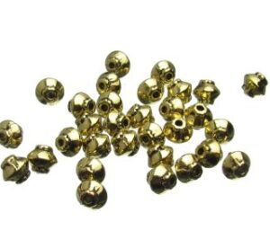 Gold bicone beads