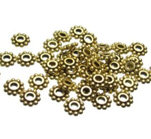 Gold Daisy Spacer Beads