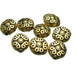 Gold Fancy Coin Beads