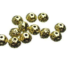 Gold Fancy Rondelle Beads