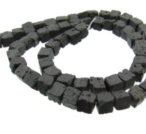 lava stone cube beads 6mm
