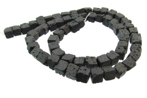 lava stone cube beads 6mm