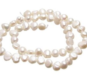 white nugget freshwater pearls 8mm