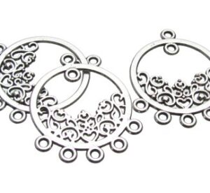 Silver filigree Chandelier Earrings