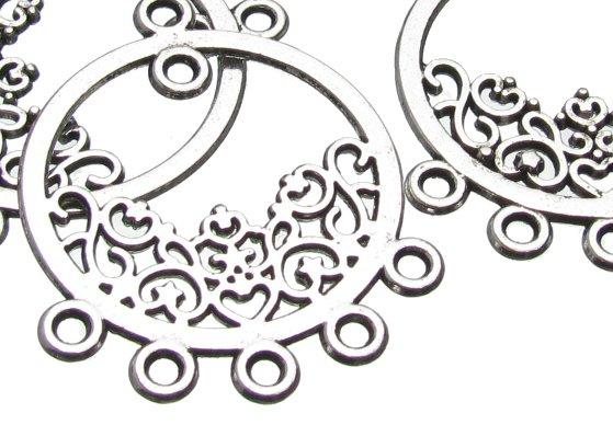 Silver filigree Chandelier Earrings