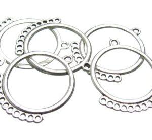 Silver Round Chandelier Earring drops