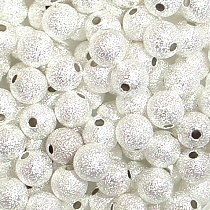 4mm silver stardust beads