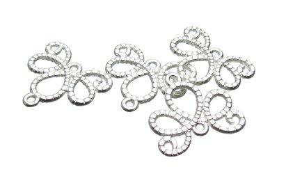 Silver swirl connectos