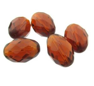 toffee brown fire polished glass beads