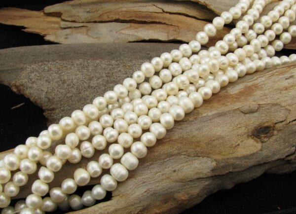 white potato freshwater pearls 8mm