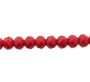 solid red crystal rondelle beads