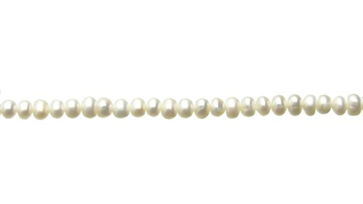 white rondelle freshwater pearls