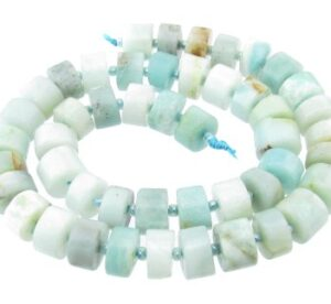 Amazonite gemstone wheel beads