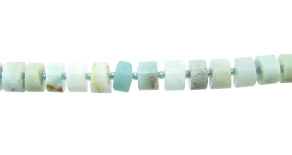 Amazonite gemstone wheel beads