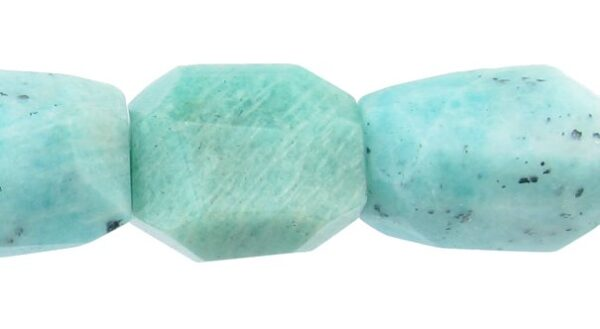 Russian Amazonite faceted nugget beads