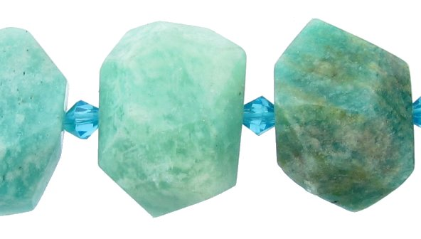 russian amazonite faceted nugget gemstone beads