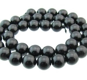 black tourmaline round beads 10mm