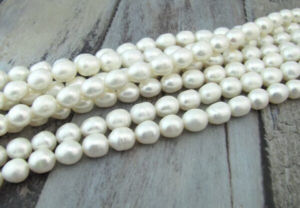 10mm white rice freshwater pearls