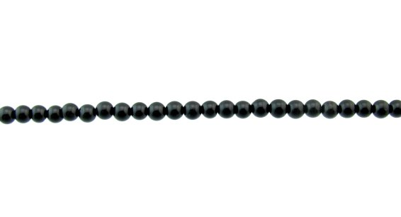 Black Tourmaline 4mm round beads