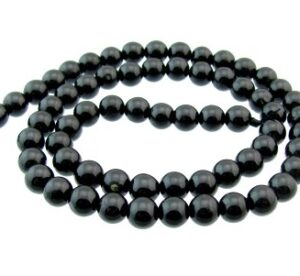 black tourmaline round beads 6mm