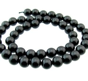 black tourmaline round beads 8mm