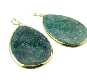 chrysocolla gemstone pendant