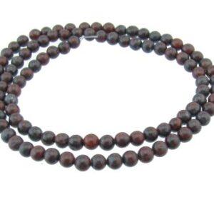 Poppy Jasper 4mm round beads
