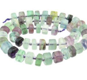 fluorite wheel gemstone beads