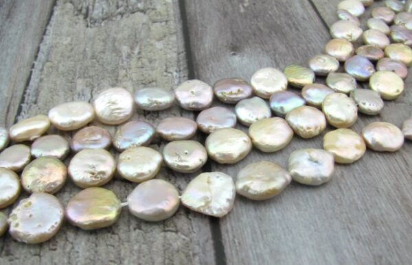 Lilac coin freshwater pearls