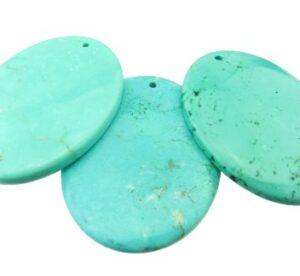 turquoise oval gemstone pendant