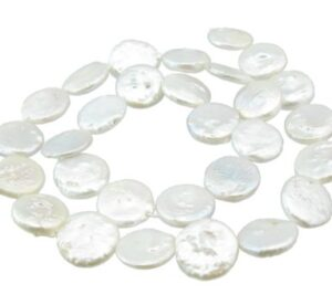 14mm white coin freshwater pearls