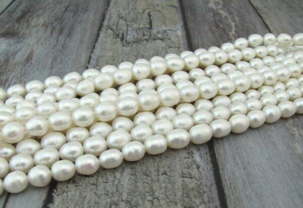 white 9mm rice freshwater pearls