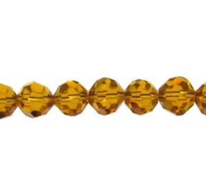 yellow topaz crystal beads 6mm