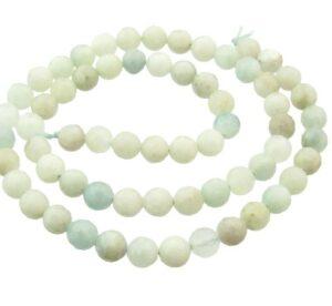 aquamarine faceted round beads 6mm