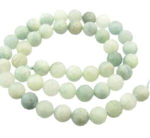 aquamarine faceted 8mm beads