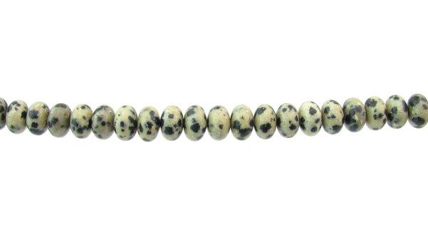 dalmatian jasper gemstone rondelle beads