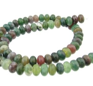 fancy jasper gemstone rondelle beads 8mm