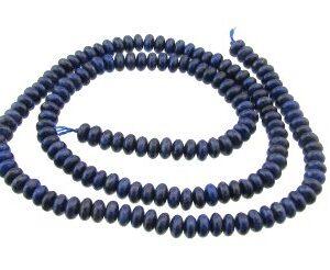 lapis lazuli 4mm rondelle beads