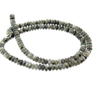 larvikite rondelle gemstone beads