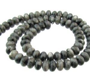 Larvikite gemstone rondelle beads 8mm