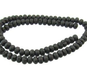 lava rock rondelle beads 6mm