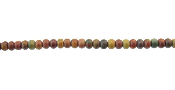 picasso jasper gemstone rondelle beads 6mm