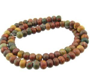 picasso jasper gemstone rondelle beads 6mm