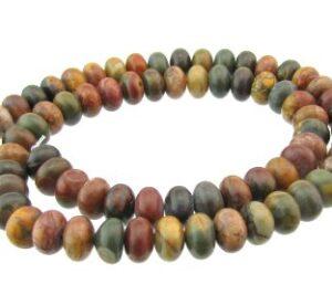 picasso jasper rondelle beads