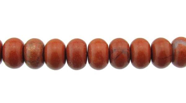 poppy jasper gemstone rondelle beads