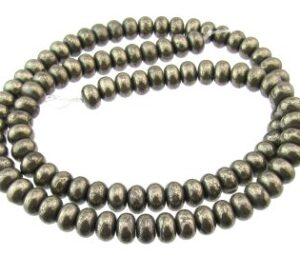 pyrite rondelle beads 6mm