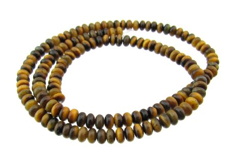 tiger eye small rondelle beads 4mm