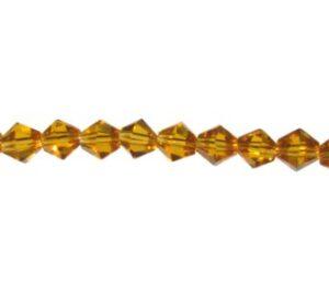 yellow topaz crystal bicone 6mm
