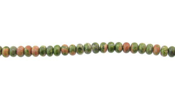 unakite gemstone rondelle beads
