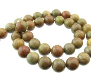 autumn jasper gemstone round beads 10mm